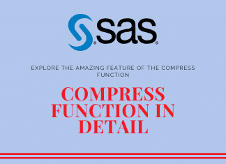 compress function in sas