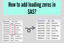 How to add leading zeros in SAS?
